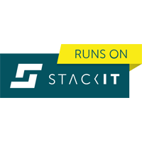 Runs on Stackit Badge Siegel