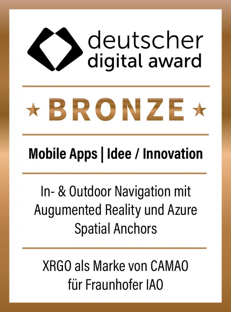 Bronze-Auszeichnung – deutscher digital award 2021