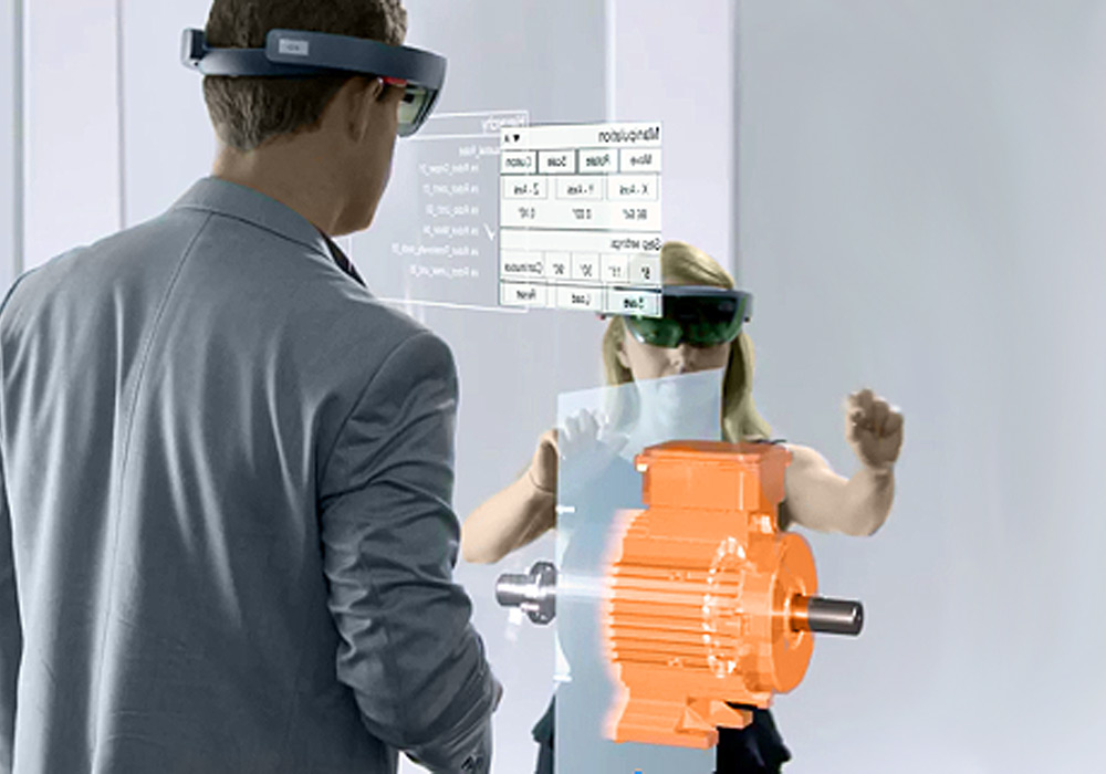 holo view Hololens immersive gesture tracking smart glasses collaboration together scalable