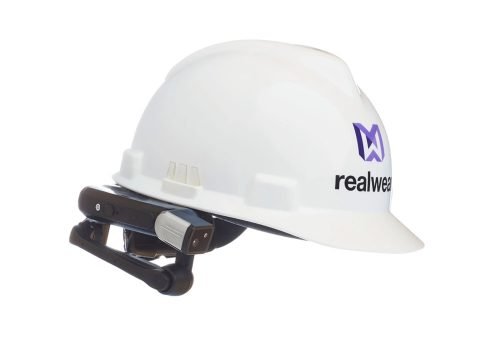 realwear hmt-1 hmt1 augmented assisted reality head mounted device datenbrille industrie harthelm schutzhelm